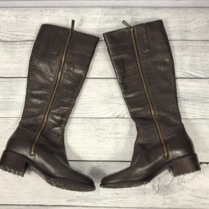 Cole Haan Leather Nike Air 7 1/2B Knee High Boots